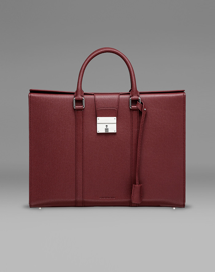 엠비지오네 CITY_R TOTE(BURGUNDY)