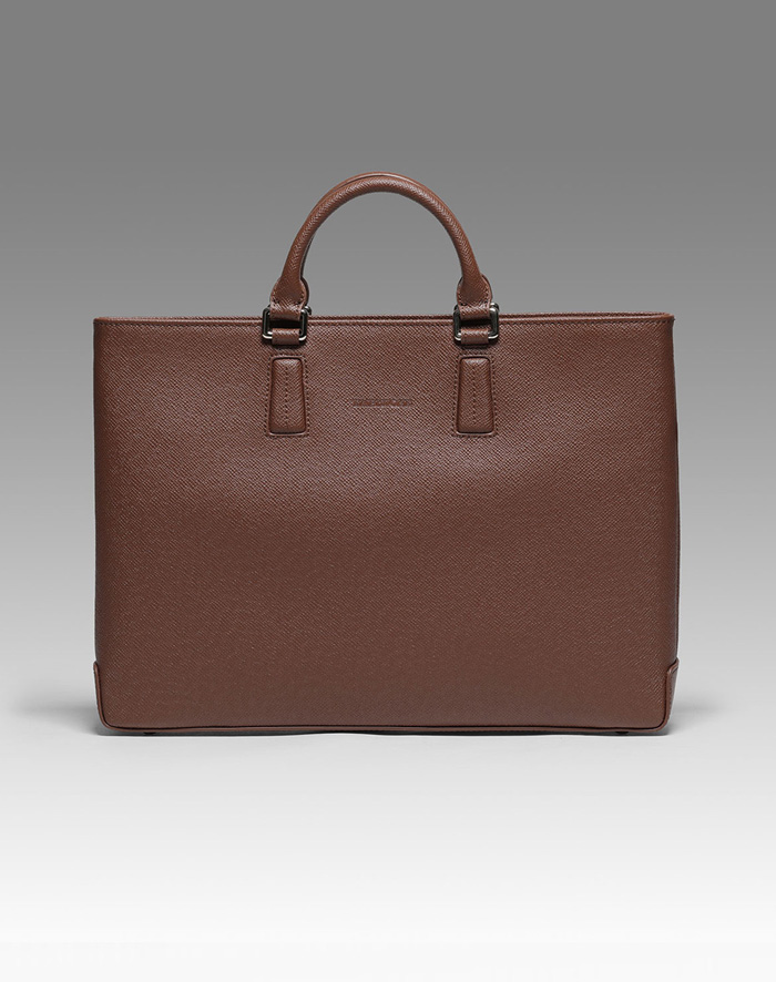 엠비지오네 EBBA TOTE(DARK BROWN)