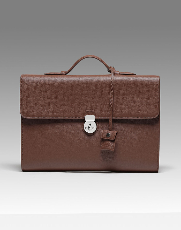 엠비지오네 MODERN TOTE(DARK BROWN)